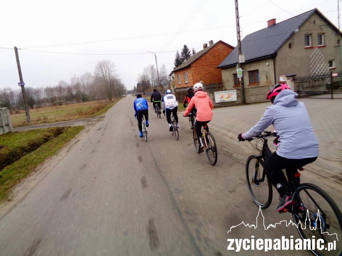 44. trening Pabianickiej Grupy Rowerowej (marzec 2017)