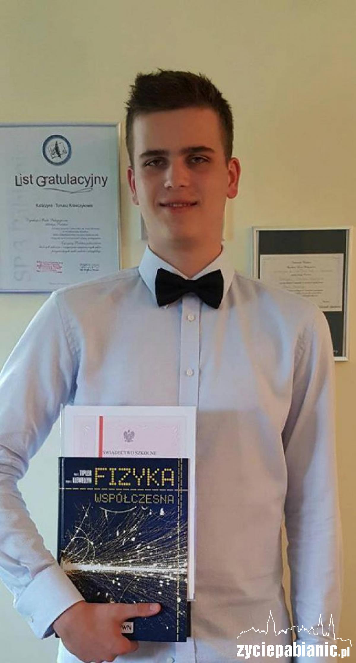 Artur Krawczyk został doceniony w programie stypendialnym marszałka województwa łódzkiego