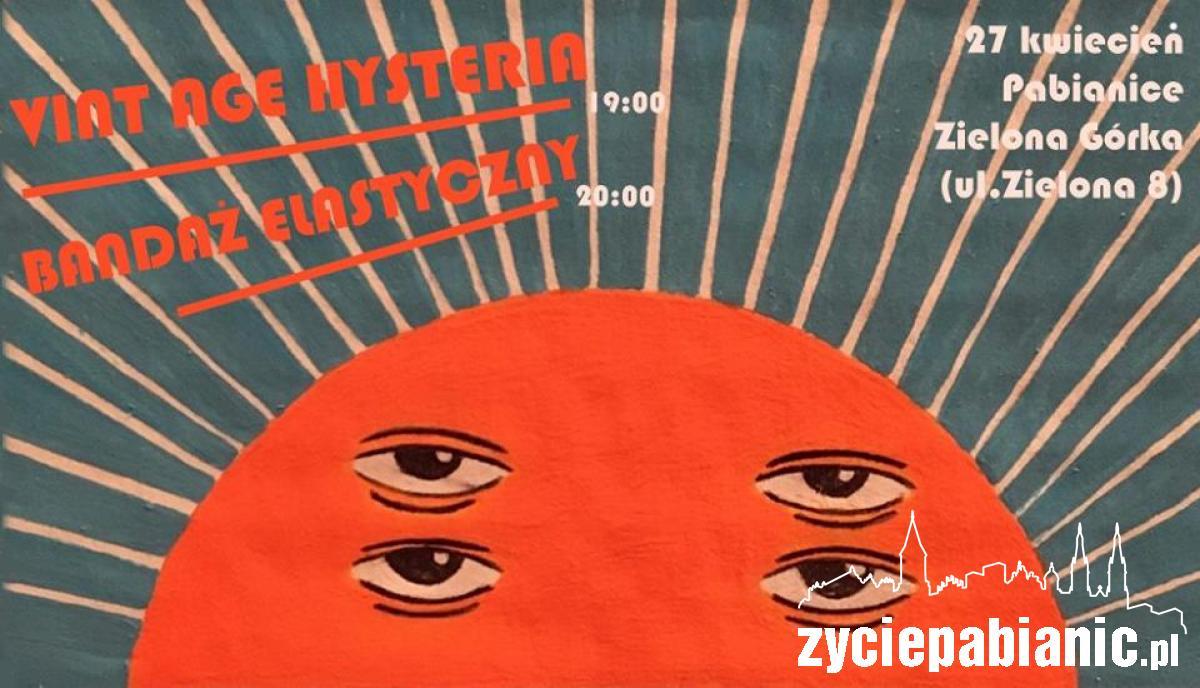 """Plakat promujący koncert w """"Zielonej Górce"""" Życie Pabianic"""